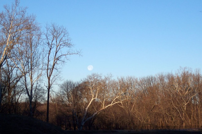 Moon at Monocacy Aqueduct