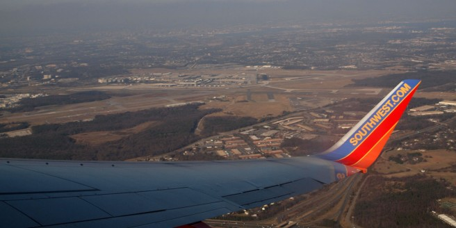 Departing BWI airport