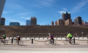 Bike trail along the river front