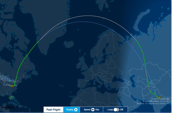 Screenshot_2019-02-28 Air India (AI) #103 ✈ 27-Feb-2019 ✈ DEL VIDP - KIAD ✈ FlightAware